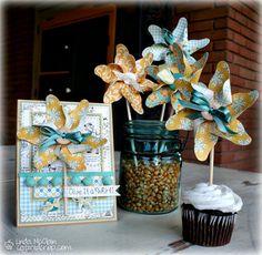 Pinwheels! Handmade card