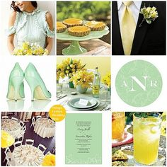 Mint and Yellow wedding theme