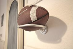 BeachBrights: Boy's Bedroom {Neutral, Football and Dog Themed, Oh My! Boys Football Bedroom, Football Rooms, Football Man Cave, Neutral Bedrooms, Man Cave Home Bar, Toy Rooms, Kids Bedroom, Bedroom Ideas, Boy Bedrooms