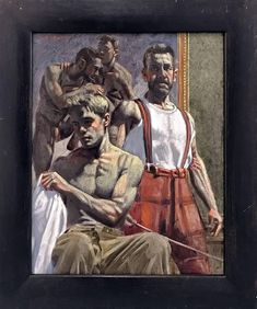 For Sale on - [Bruce Sargeant Tutorial, Canvas, Oil Paint by Mark Beard. Offered by ClampArt. Museum Of Fine Arts, Museum Of Modern Art, Beard Art, Modern Art Movements, Street Art, Art Of Man, Gay Art, Gravure, Figure Painting