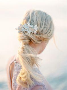 Low pony tail: http://www.stylemepretty.com/destination-weddings/2016/11/10/faro-inspired-wedding-shoot/ Photography: 2 Brides - http://2brides.se/