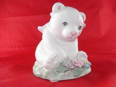 Vintage Porcelain Music Box Teddy Bear by SusieSellsVintage, $15.00