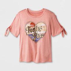 61265757fd54 art class Girls  Cold Shoulder Graphic Tie Short Sleeve T-Shirt - art class