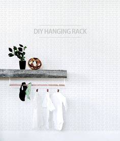 DIY Hanging Rack for
