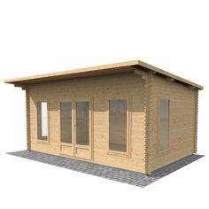 3.5m x 5m Contemporary Home Office Log Cabin