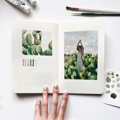 Gouache Painting, Painting & Drawing, Arte Sketchbook, Illustration Art, Illustrations, Nature Drawing, Diy Canvas Art, Art Journal Inspiration, Aesthetic Art