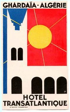 Luggage Label by Erik Nitsche ca. Vintage Poster, Vintage Travel Posters, Vintage Ads, Luggage Stickers, Luggage Labels, Old Luggage, Vintage Luggage, Hotel Logo, Vintage Hotels