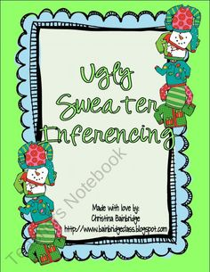 Ugly Sweater Party Inference Activity product from Mrs-Bainbridges-Oasis on TeachersNotebook.com