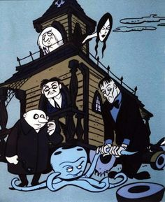 """""""The Addams Family"""" 1973 Hanna-Barbera Cartoon : Los estudios Hanna-Barbera aprovecharon la popularidad de la serie para crear en 1973 la serie de dibujos animados """"The Addams Family"""", presentando a la familia de vacaciones en su casa rodante (muy parecida tanto por dentro como por fuera a su mansión) y con todos los personajes y usando la voz de algunos actores para los integrantes de la familia. Ambas series se siguieron transmitiendo durante los años 80, haciendo crecer la fama de la…"""