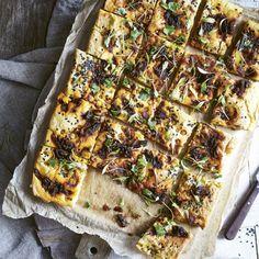 Chickpea Flatbread & Marinated Crunchy Chickpeas
