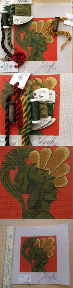 Other Needlecraft Supplies 160715: Handpainted Needlepoint Canvas Kit Leigh Design: Pompeii Roman Soldier Italian -> BUY IT NOW ONLY: $125 on eBay!