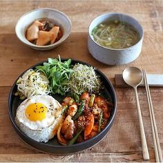 :) easy to replicate. Asian Recipes, Healthy Recipes, Good Food, Yummy Food, Think Food, Food Goals, Cafe Food, Aesthetic Food, Korean Food