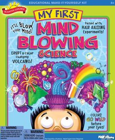 Scientific Explorer My First Mind Blowing Science Kit Off! Ages 20 piece kit allows your young scientist to explore and learn the basics of Science Toys, Science Experiments, Science Gifts, Science Party, Mad Science, Stem Science, Ice Cream Science, Science Kits For Kids, Science Ideas