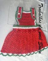 Trabalhos da vovó Sônia: Jardineira para bebê melancia - crochê