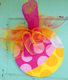 Beach Ball Door Hanger  Summer door hanger by paintchic on Etsy, $25.00