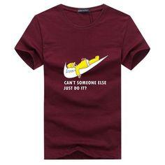 Camiseta Humor Simpson ¨Alguém Pode Ir Lá Fazer  ¨ Tamanho S a 5XL (P a  5XG). BARATO JAPÃO 9e849ab8723