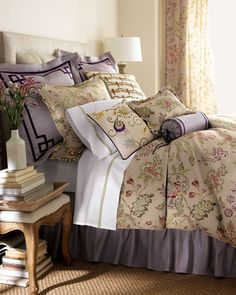 """""""Retreat"""" Bed Linens by Jane Wilner at Horchow."""