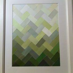 Ombre paint chip art