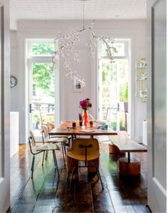 Lighted-branch chandelier. I. am. in. love.  #chandelier #lighting #funwithhomedecor #nytimes