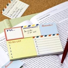 To Do Sticky Notes Set...NEED N O W!