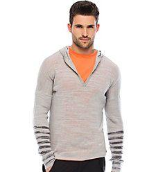 Armani - Men apparel-  Burnout Striped Hoody