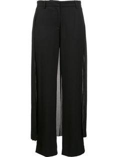 ADAM LIPPES pleated skirt detail tuxedo trousers. #adamlippes #cloth #팬츠