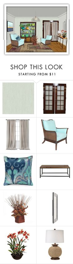"""Untitled #1718"" by gilce-klain ❤ liked on Polyvore featuring interior, interiors, interior design, home, home decor, interior decorating, York Wallcoverings, Nate Berkus, David Francis Furniture and Surya"