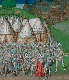 Isabel de Francia, Reina de Inglaterra y Roger Mortimer Primer Conde de March, Crónica de Jean Wavrin, s. XV, B. Library.
