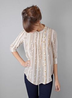 Style for Over 35 ~ simple lovely blouse is so versatile