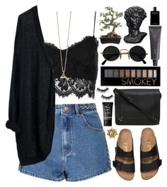 Smokeyed by ladyvalkyrie on Polyvore featuring polyvore, fashion, style, Topshop, Glamorous, Jérôme Dreyfuss, Forever 21, NARS Cosmetics, Manic Panic, Elizabeth and James, Bite, Crate and Barrel, MTWTFSS Weekday and clothing