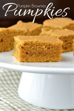 A simple recipe for soft and chewy Pumpkin Brownies. A great recipe for fall!