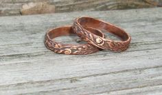 handmade COPPER rings ~*~ (Just One Copper Ring, Etsy)