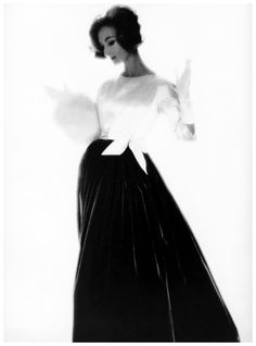 Evelyn Tripp, photo by Lillian Bassman, 1958