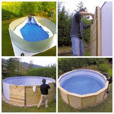 Montaje piscina de madera Gre circular