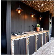 Outdoor Kitchen Countertops, Patio Kitchen, Outdoor Kitchen Design, Kitchen On A Budget, New Kitchen, Kitchen Decor, Kitchen Ideas, Outdoor Kitchens, Kitchen Paint