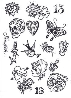 Friday 13th Tattoo Flash Art