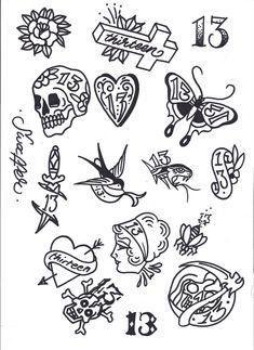 Friday 13th Tattoo Flash Art