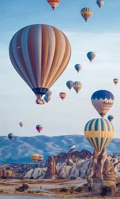 Tours, ActivitiesTickets, Tours, Activities kid friendly vacation packages Cappadocia, Turkey More Beautiful Blue Hot Air Balloon. Air Balloon Rides, Hot Air Balloon, Ballons Fotografie, Places To Travel, Places To Go, Balloons Photography, Air Ballon, Most Beautiful Wallpaper, Jolie Photo