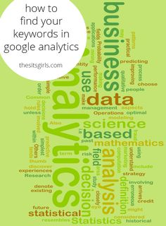 Learn how to find keywords in Google Analytics so you can see how people are finding your blog in searches and what topics you should writing about more.
