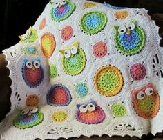 Owl afgan - If I ever have kids, someone has to make this for me.
