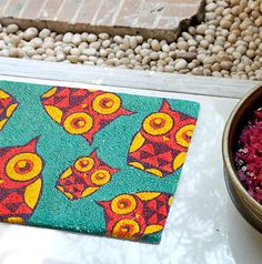 Peeking Owl Doormat