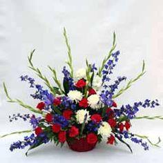 Small Patriotic arrangement for foyer