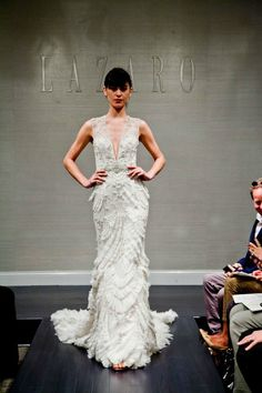 Art-Deco inspired wedding dress | Lazaro Spring 2015 Bridal Collection | Bajan Wed