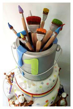 #KatieSheaDesign ♡❤ ❥ Cake of an artist