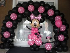 MINNIE MOUSE BALLOONS - Juju-Bee's Balloon Decorating