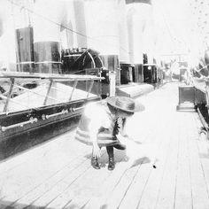 "Grand Duchess Anastasia Nikolaevna Romanova of Russia on board the Imperial Royal yacht,the Standart in 1907. ""AL"""