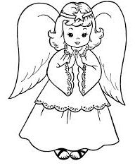 Free Printable Angel Coloring Pages For Kids   Pinterest   Angel ...