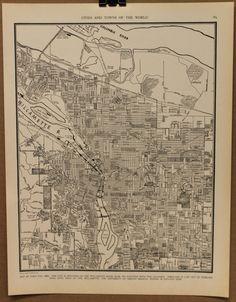 Vintage Portland Oregon Map