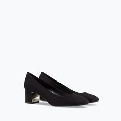 Image 4 of COURT SHOE WITH METAL PLATE HEEL from Zara  <3__<3 PERFECT <3__<3