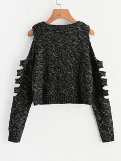 Shop Ladder Cutout Sleeve Marled Knit Jumper online. SheIn offers Ladder Cutout Sleeve Marled Knit Jumper & more to fit your fashionable needs.